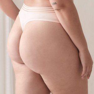 Ashley Graham Solid Invisible Thong Panty sz 2X